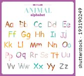 funny and cute zoo alphabet in... | Shutterstock .eps vector #193190249