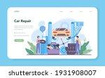 car service web banner or... | Shutterstock .eps vector #1931908007