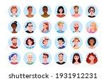 happy people round portrait... | Shutterstock .eps vector #1931912231