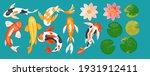 koi carp asian fishes vector... | Shutterstock .eps vector #1931912411