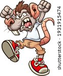 rat boy screaming angrily with... | Shutterstock .eps vector #1931915474