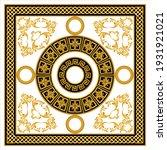 golden baroque element with... | Shutterstock .eps vector #1931921021