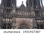 Detail Of The Front Facade Of...