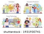 innovation concept set. idea of ... | Shutterstock .eps vector #1931930741