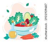 fresh vegetables bowl healthy...   Shutterstock .eps vector #1931939687