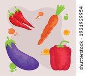 watercolor healthy food set...   Shutterstock .eps vector #1931939954