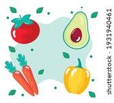 four fresh vegetables healthy...   Shutterstock .eps vector #1931940461