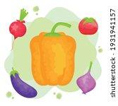 watercolor set vegetables...   Shutterstock .eps vector #1931941157