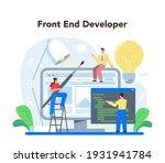 frontend development concept....