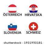 austria  croatia  slovenia and...   Shutterstock .eps vector #1931950181