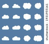 set of clouds in the blue sky   Shutterstock .eps vector #1931955161
