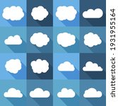 white cloud icons with long...   Shutterstock .eps vector #1931955164