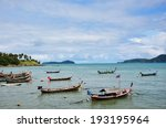 rawai beach at sea of phuket... | Shutterstock . vector #193195964