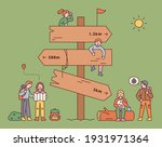 a huge milestone with... | Shutterstock .eps vector #1931971364