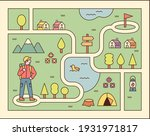 directions game illustration. a ... | Shutterstock .eps vector #1931971817