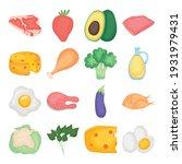 food set on white background   Shutterstock .eps vector #1931979431