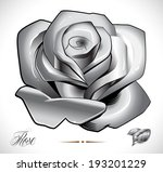 rose  leafs and background on... | Shutterstock .eps vector #193201229
