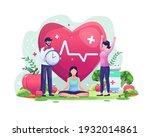 world health day illustration...   Shutterstock .eps vector #1932014861