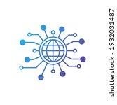 sharing global icon logo design ... | Shutterstock .eps vector #1932031487