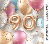 anniversary greeting card with... | Shutterstock .eps vector #1932035984