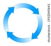 circulation image. rotation... | Shutterstock .eps vector #1932045641