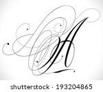 1st handmade calligraphy tattoo ... | Shutterstock .eps vector #193204865
