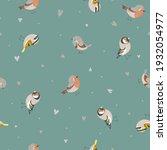 cute seamless pattern with birds   Shutterstock .eps vector #1932054977