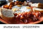 full english breakfast served... | Shutterstock . vector #1932059894