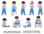 childhood injuries types....   Shutterstock .eps vector #1932072941