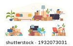 cartoon boxes with things....   Shutterstock .eps vector #1932073031