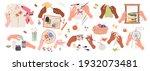 needlework embroidery. human... | Shutterstock .eps vector #1932073481