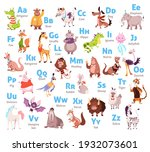 cute animal alphabet. color...   Shutterstock .eps vector #1932073601