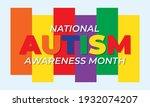 april is autism awareness month ...   Shutterstock .eps vector #1932074207
