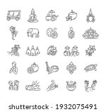 thailand icon set   collection... | Shutterstock .eps vector #1932075491