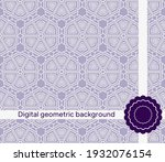 geometric background. seamless. ...   Shutterstock .eps vector #1932076154