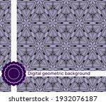 modern geometric pattern....   Shutterstock .eps vector #1932076187