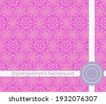 modern geometric pattern....   Shutterstock .eps vector #1932076307