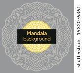 luxury mandala background with...   Shutterstock .eps vector #1932076361