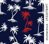 seamless  palm tree pattern on...   Shutterstock .eps vector #1932078497