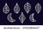 stencils of earrings of various ...   Shutterstock .eps vector #1932084647
