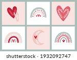 set card clipart bohemian... | Shutterstock .eps vector #1932092747