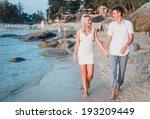 beautiful couple hugs each... | Shutterstock . vector #193209449