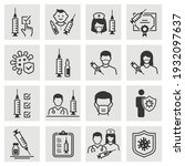 vaccine icon set. collection of ... | Shutterstock .eps vector #1932097637