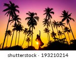 sillouette of coconut tree and... | Shutterstock . vector #193210214