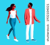 urban people  young africans.... | Shutterstock .eps vector #1932104021