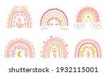 cute rainbow set for baby girl. ...   Shutterstock .eps vector #1932115001