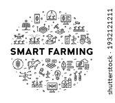 vector smart farm icon set.... | Shutterstock .eps vector #1932121211