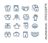 set of colored icons of medical ...