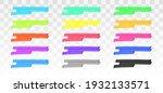 color highlighter lines set... | Shutterstock .eps vector #1932133571
