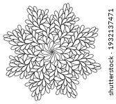easy mandala like flower or... | Shutterstock .eps vector #1932137471